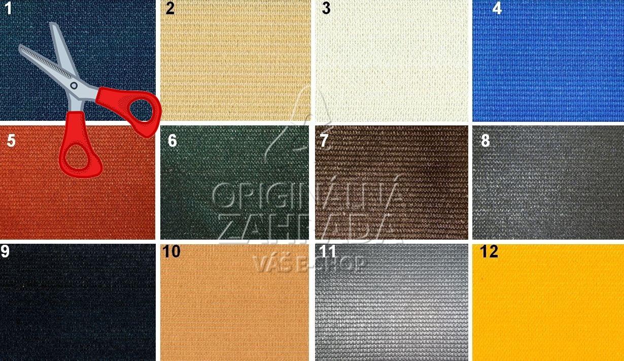 Tieniaca tkanina 230 g / m2, výška 4,0 m - metráž (FAREBNá)